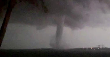 image made from video by Twitter user @AthenaRising shows the tornado in Rockwall, TX