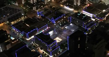City in Blue For Officer Hull