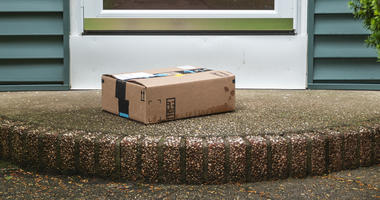 Package on a front porch