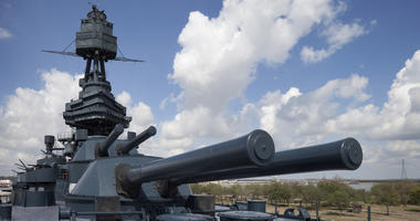 14 inch guns of the Battleship Texas