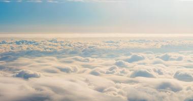 cumulus and layered stratus clouds