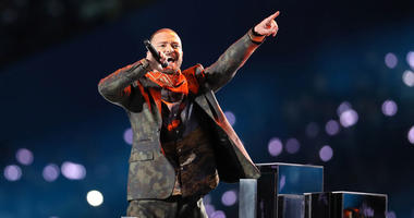 Justin Timberlake performs during the halftime show in Super Bowl LII