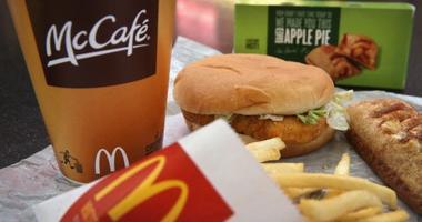 A McDonald's McChicken sandwich