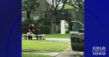 San Antonio Police Officer Helps Homeless Man