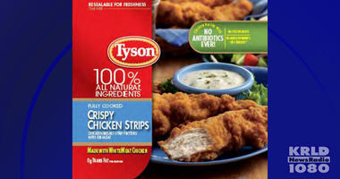 Tyson frozen, ready-to-eat chicken strips