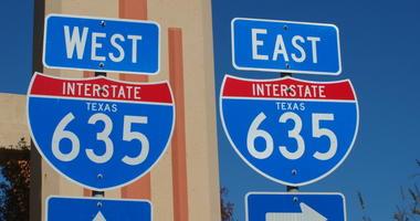 I-635 LBJ Sign