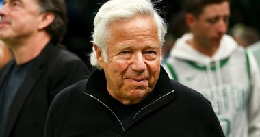 New England Patriots owner Robert Kraft smiles.