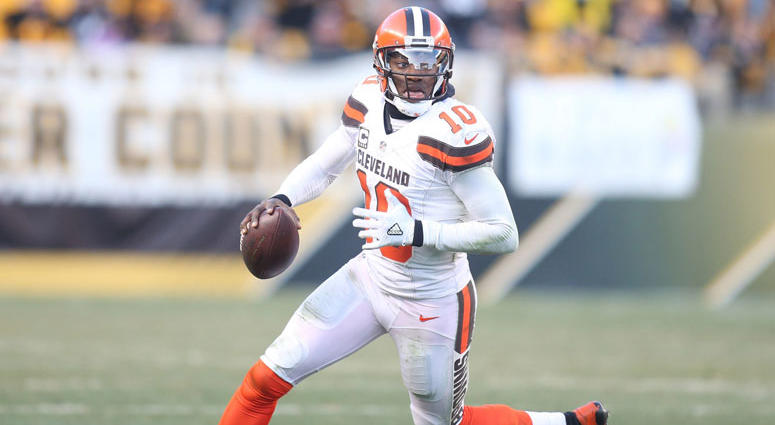 Cleveland Browns quarterback Robert Griffin III