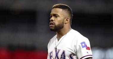 Texas Rangers Center Fielder Delino DeShields
