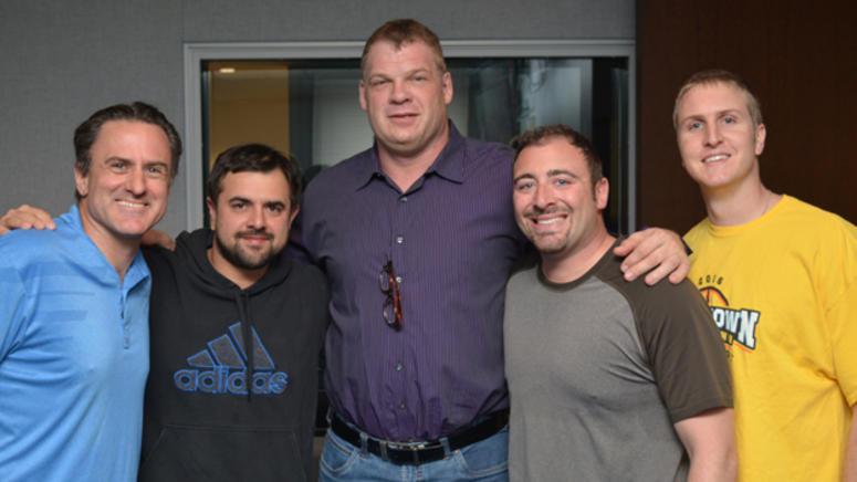 WWE star Kane (Glen Jacobs) with Shan & RJ