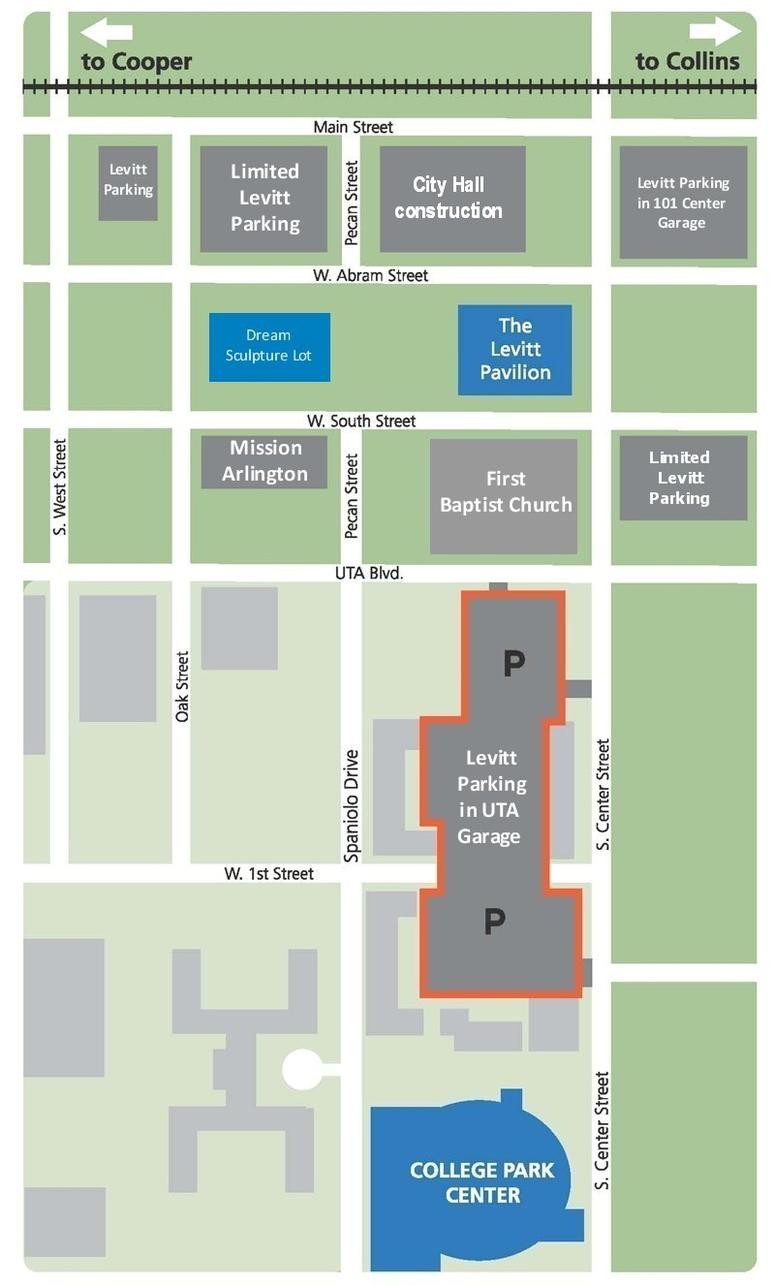 Levitt Parking Map, Arlington