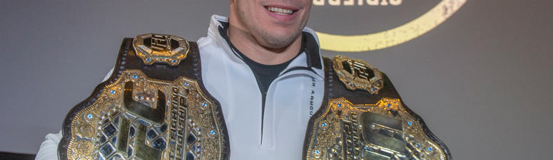 Canada's Georges St-Pierre announces his retirement from mixed martial arts during a press conference in Montreal