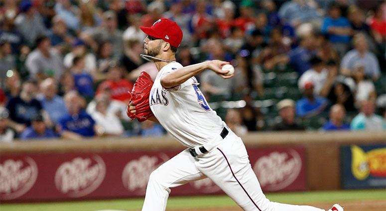Texas Rangers pitcher Alex Claudio