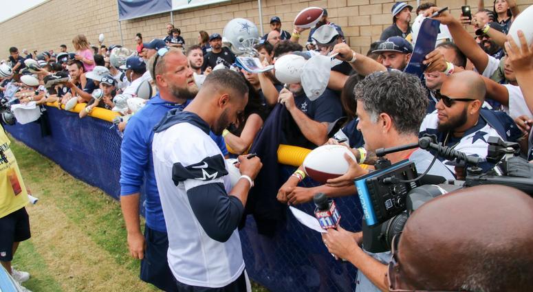Dak Prescott At 2018 Dallas Cowboys Training Camp