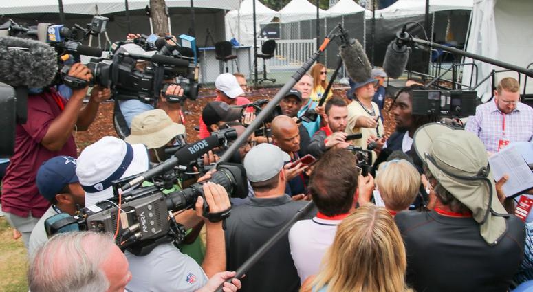 Demarcus Lawrence At 2018 Dallas Cowboys Training Camp