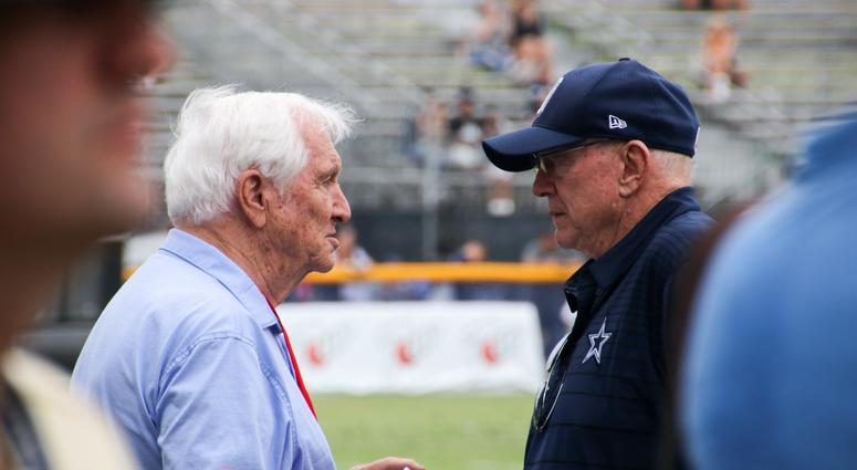 Jerry Jones And Gil Brandt At 2018 Dallas Cowboys Training Camp (