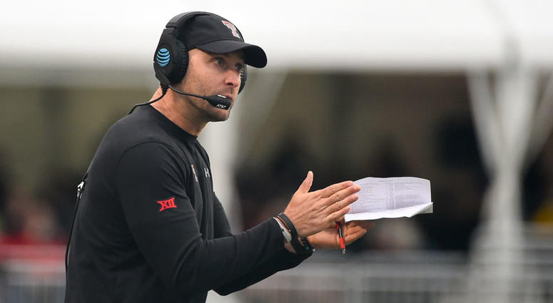 Texas Tech Red Raiders head coach Kliff Kingsbury
