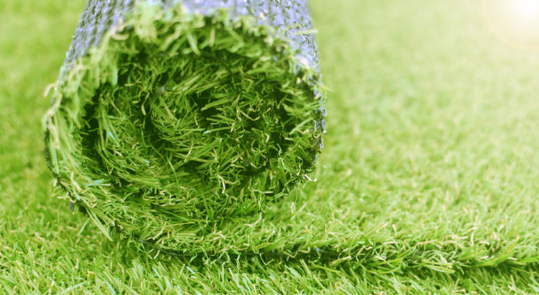 Artificial turf roll. Synthetic grass