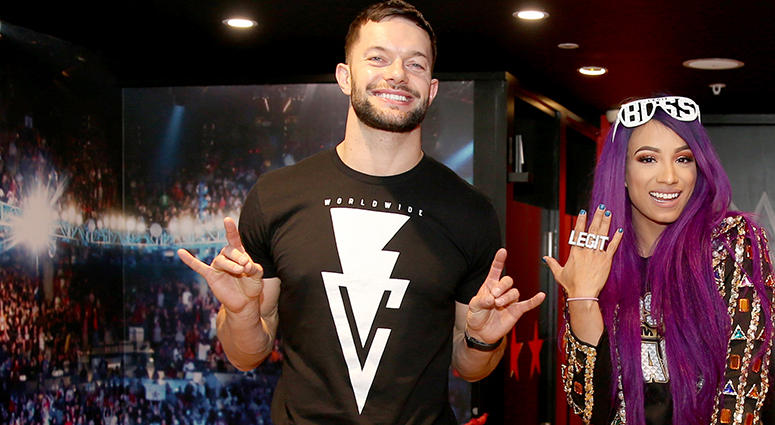 WWE Superstars Finn Balor and Sasha Banks