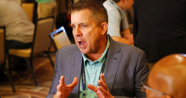 New Orleans Saints head coach Sean Payton speaks to the media during the NFC/AFC coaches breakfast during the annual NFL football owners meetings, Tuesday, March 26, 2019, in Phoenix