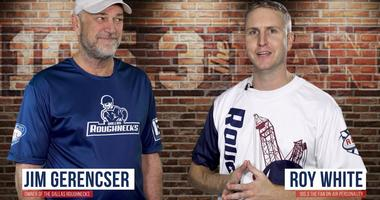 Roy with Dallas Roughnecks owner Jim Gerencser