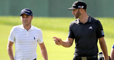 AP Dustin Johnson and Justin Thomas