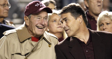 President H.W. Bush and Rick Perry