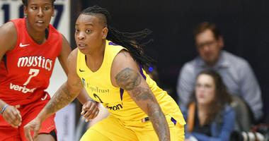 Los Angeles Sparks guard Riquna Williams