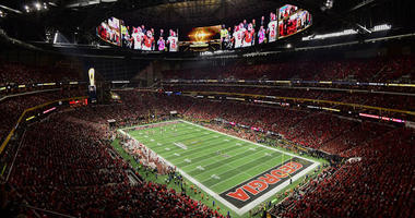 Georgia Bulldogs and the Alabama Crimson Tide in the 2018 CFP national championship college football game