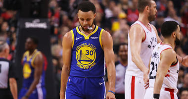 Stephen Curry after the Warriors lose Game 1 of the NBA Finals to the Raptors in Toronto.