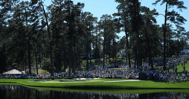 A general view during the Par 3 Contest prior to the Masters at Augusta National Golf Club