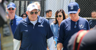 Dallas Cowboys owner Jerry Jones, head coach Jason Garrett