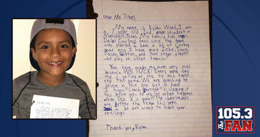 Kids Writes Letter To Jerry Jones