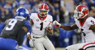 Georgia Bulldogs quarterback Justin Fields