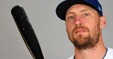 Feb 20, 2019; Surprise, AZ, USA; Texas Rangers right fielder Hunter Pence (24) is photographed during media day at Surprise Stadium