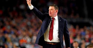 Apr 6, 2019; Minneapolis, MN, USA; Texas Tech Red Raiders head coach Chris Beard during the second half against the Michigan State Spartans in the semifinals of the 2019 men's Final Four at US Bank Stadium.