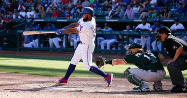 Texas Rangers second baseman Danny Santana