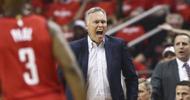 Houston Rockets head coach Mike D'Antoni