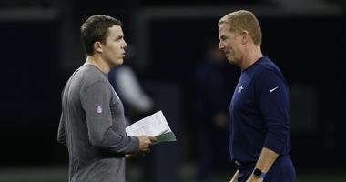 Dallas Cowboys offensive coordinator Kellen Moore