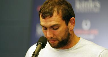 Indianapolis Colts quarterback Andrew Luck announces his retirement