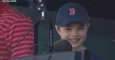 Watch 5-Year-Old Adorably Announce Batter Before Red Sox Home Run
