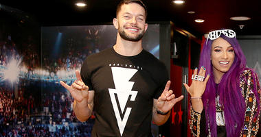 WWE Superstars Finn Balor and Sasha Banks
