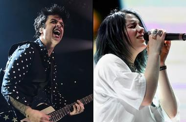 Billie Joe Armstrong of Green Day and Billie Eilish