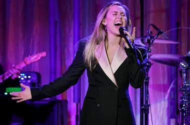 Miley Cyrus performs at The Women's Cancer Research Fund's An Unforgettable Evening Benefit Gala at the Beverly Wilshire Four Seasons Hotel