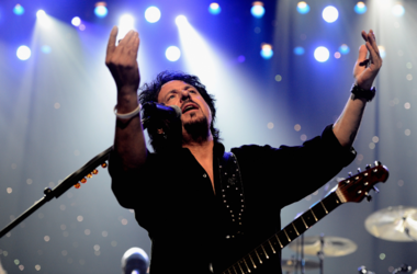 Toto's Steve Lukather celebrating Yamaha's 125th Anniversary Live Around the World Dealer Concert performs at the Hyperion Theater on January 25, 2013