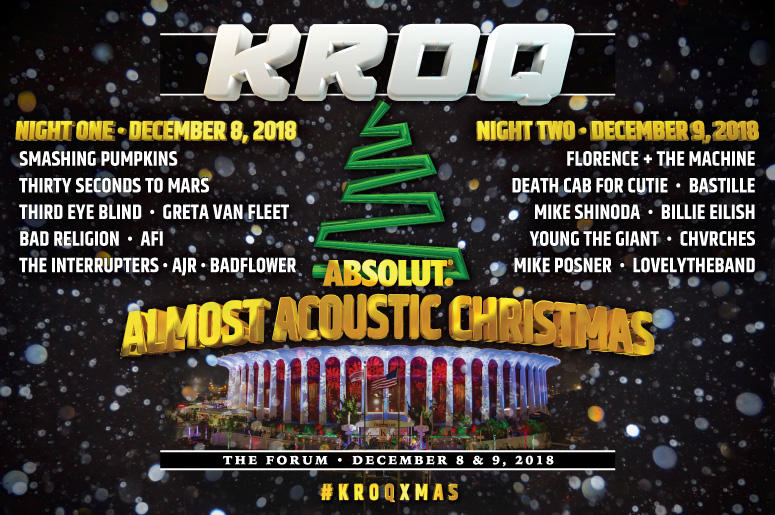 Kroq Almost Acoustic Christmas 2019 Lineup KROQ Absolut Almost Acoustic Christmas Webcast | The World Famous KROQ