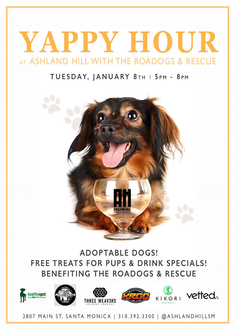 KROQ To The Rescue: Yappy Hour at Ashland Hill | The World Famous KROQ