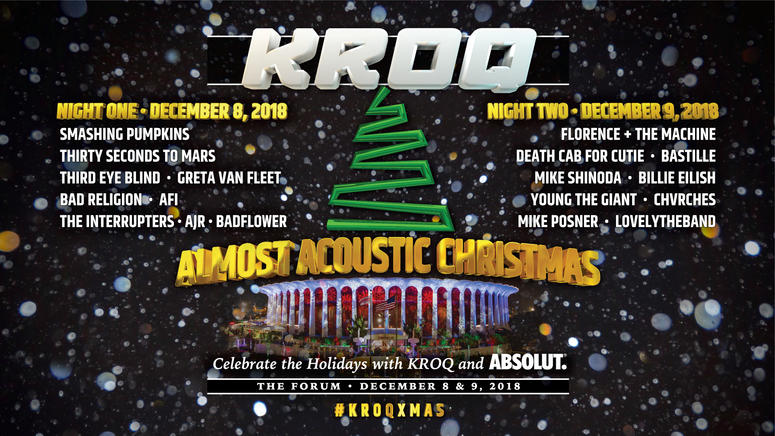 Kroq Almost Acoustic Christmas 2019 Lineup KROQ Almost Acoustic Christmas 2018 Night 1 Bands | The World
