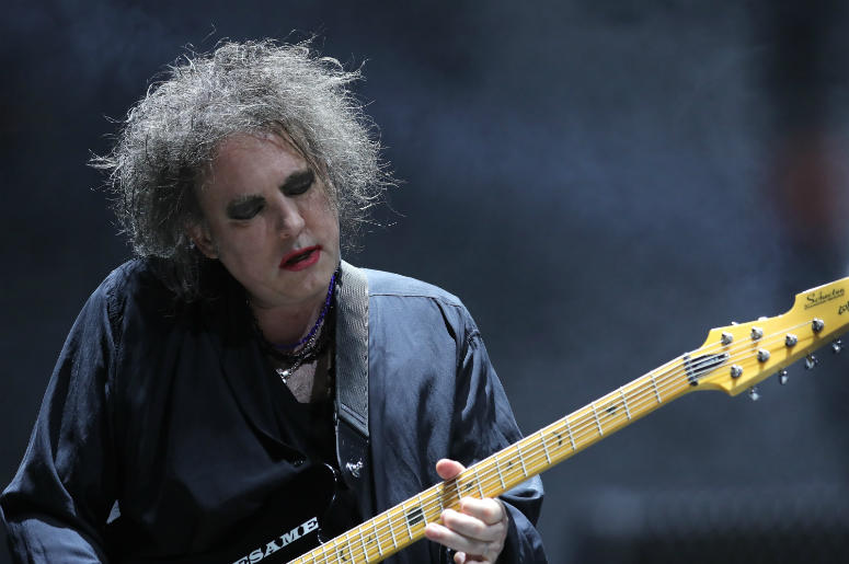 Robert Smith of The Cure performs on stage at Madison Square Garden on June 18, 2016