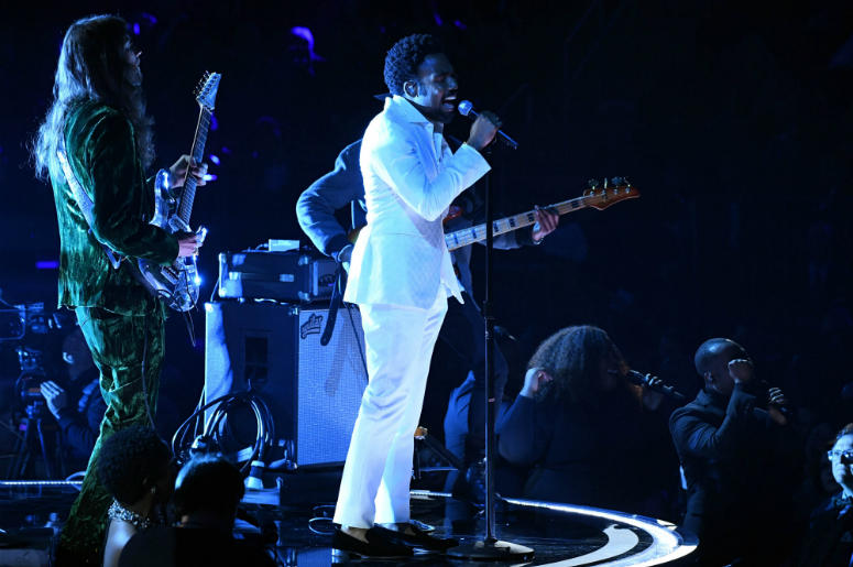 Childish Gambino aka Donald Glover performs Terrified during the 60th Annual Grammy Awards